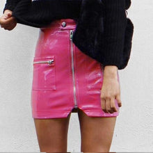 My Hot Pink Pleather Mini Skirt - A Must Have from HMS