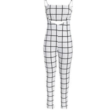 Plaid Jump Suit - 2 Piece Plaid Jumpsuit in Black or White