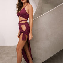 Side Slit Sexy BodyCon Dress - After Hours Dress - 2 Piece Sexy Dress - Black, Pink, Maroon,