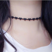 2019 HMS Heart Chokers Fashion Gothic Hollow Black Suede Collar