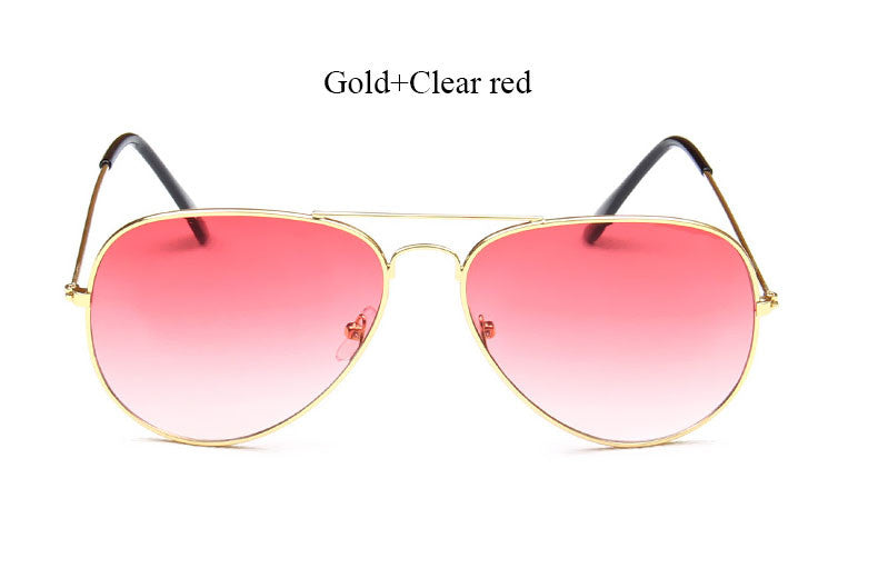 Miami Shades Aviators - Classic Style Clear Red