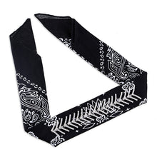 Bandana Choker with Rhinestones - Black, White or Red - Great for Head or Neck