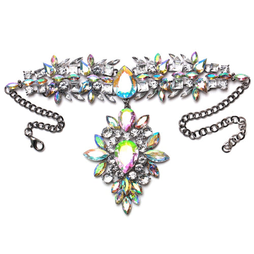 Hot Miami Shades Fully jewelled Alloy Necklace