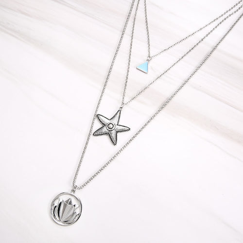 Hot Miami Shades Lotus Starfish Star Shape Necklace