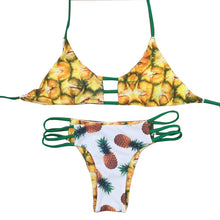 Pineapple Bikini Set - Reversable