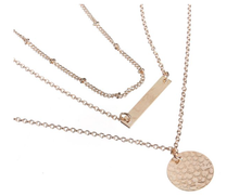 Necklace - 1 Piece - Stacked - Bar - Delicate