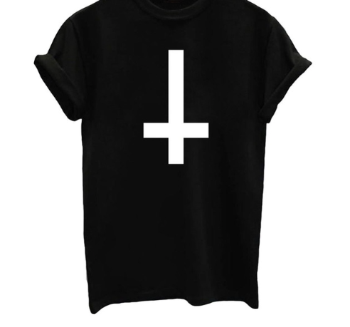 Cross Graphic T Shirt - Black, White or Gray