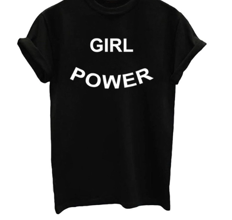 GRL Power Graphic T Shirt - Black White or Gray