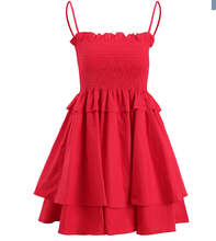 Perfect Red Beach Dress - Cotton - Stretches