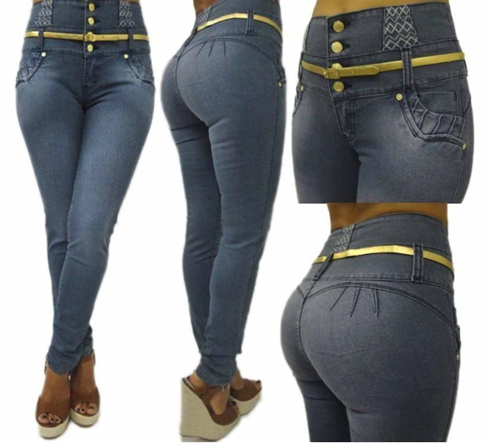 Hot Miami Shades High Waist & Button Placket Women Jeans