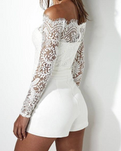 Hot Miami Shades White Jumpsuit & Lace Detail