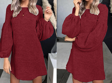 Hot Miami Shades Women's Puff Sleeve & O-Neck Dress