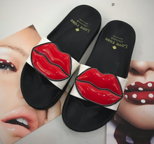 Hot Miami Shades Red Lips Slippers