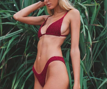 Hot Miami Shades Pleated SeerSucker Bikini
