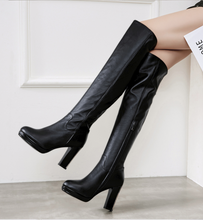 Hot Miami Shades High-Heeled Knee Boots