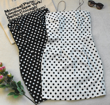 Hot Miami Shades Dotted Strapless Ladies Skirt Dress