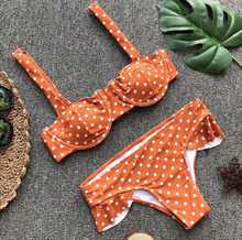 Hot Miami Shades Polka Dot Ruffled Bikini