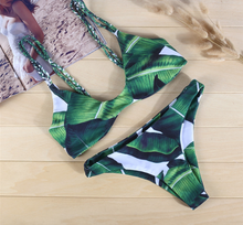 Hot Miami Shades Leaf Printed Swimwear