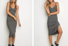 Hot Miami Shades V Neck & Low Cut Dress