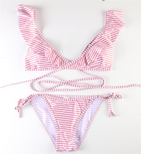 Hot Miami Shades Striped Cross Strap Bikini