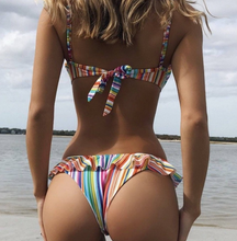 Hot Miami Shades Stripe & Rainbow Fabric & Padded Swimwear