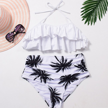 Hot Miami Shades Strappy Palm Printed Bikini