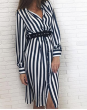 Hot Miami Shades Striped Dress with Waistband
