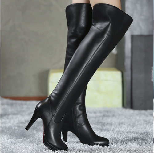 Hot Miami Shades Classic High Heel Knee Boots