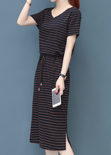Hot Miami Shades Striped Temperament Skirt Dress
