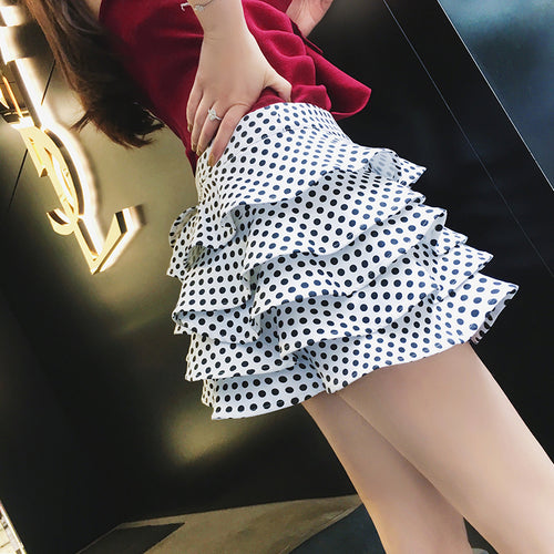 Hot Miami Shades High Waist Ruffled Wave Skirt