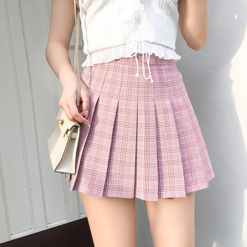 Hot Miami Shades Lattice Pleated Skirt