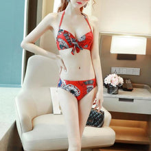 HOT MIAMI SHADES Three-Piece Printed Swimsuit