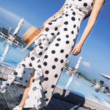 Hot Miami Shades Polka Dot Dress - White with Black Polka Dots Ruffle Dress