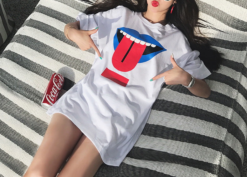 Hot Miami Shades Long Section Printed T-Shirt