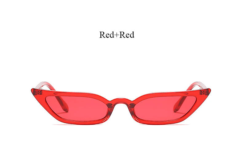 No New Friends Acrylic Eye Wear - Acrylic Cat Eye Sunglasses - Red Acrylic Sunnies + 5 other color options