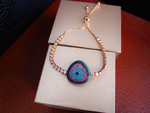 Eye Bracelet - Rose Gold Plated, Swarovski Cut Stones