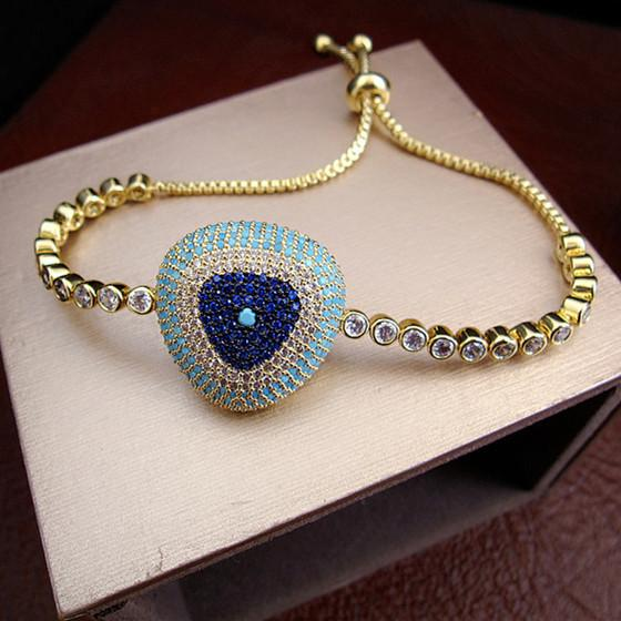 Eye Bracelet - 18K Gold Plated, Swarovski Cut Stones