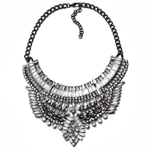 Hot Miami Shades Big Crystal Statement Necklaces