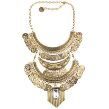 Hot Miami Shades Long Coin & Detailled Necklace For Women