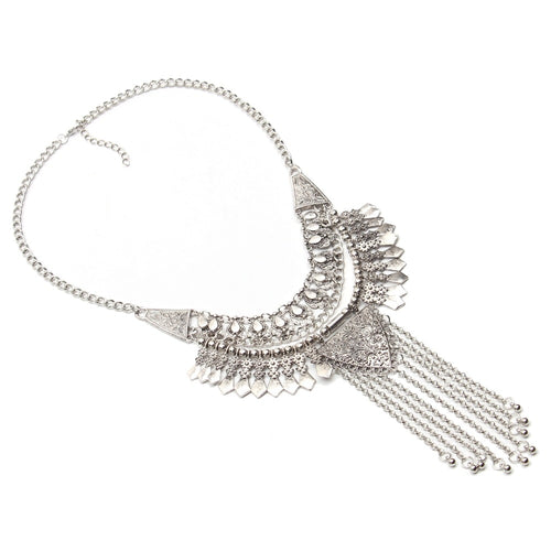 Hot Miami Shades Metal Spike Tassels Triangle Pendant