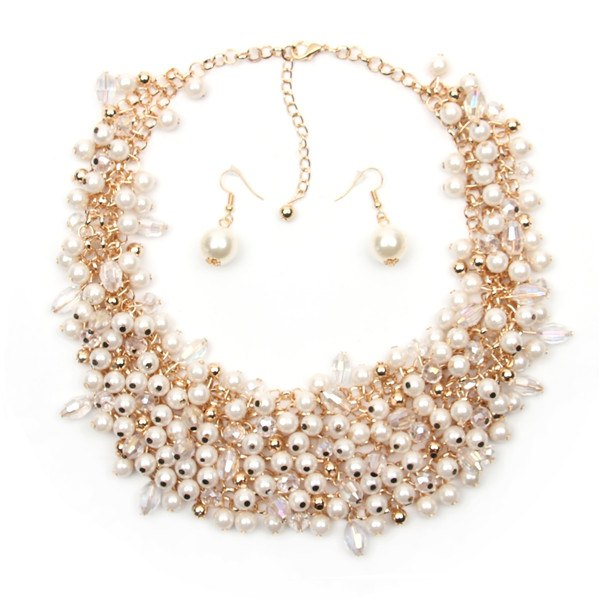 Hot Miami Shades  Trendy Palace Beauty Pearl Necklace  White