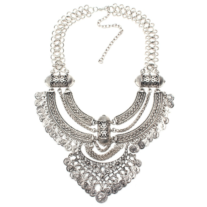 Hot Miami Shades Vintage Carving Jewelry Necklace