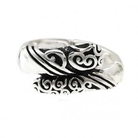 Stretch Antique Silver Filegree Ring