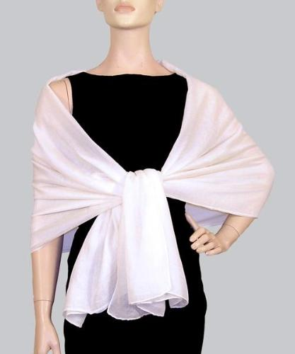 Vintage Cashmere Touch Solid Shawl Cream