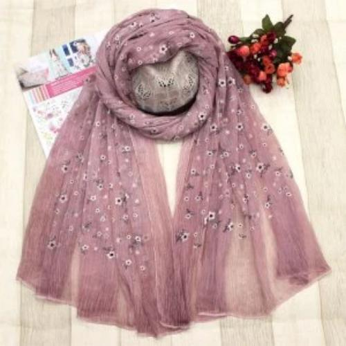 Lightweight Mini Floral Scarf Pink