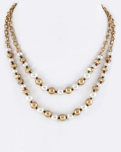 Pearls/Beads Layered Necklace