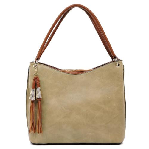 Two-Tone Shoulder Bag Tan
