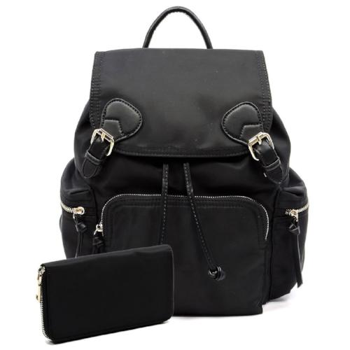Nylon 2-in-1 Backpack Black
