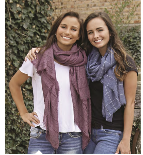 Sonoma Scarf Wine & Blue