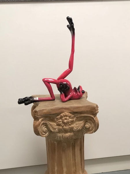 Joy Frog Doing Aerobics Figurine